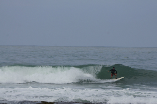 Surfing Sawarna beach