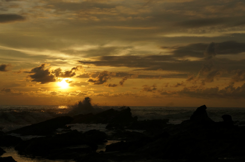 sunrise Sawarna Beach