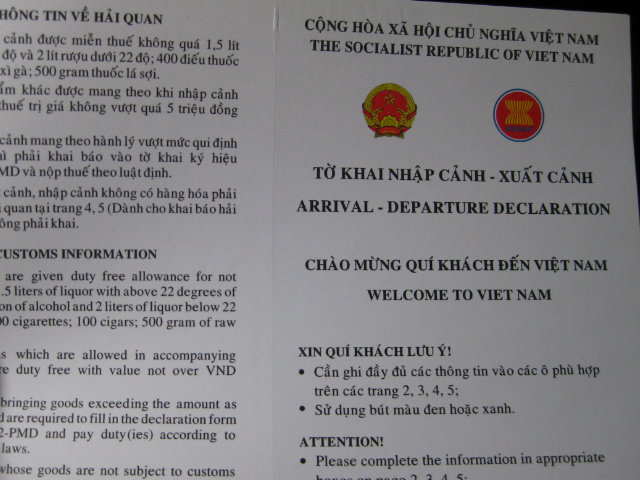 custom rules in vietnam