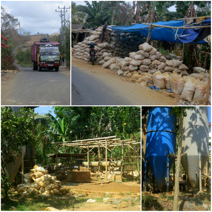 Heavy trucks fill the roads and mercury seeps into the groundwater as a result of the illegal gold mining around Kuta.