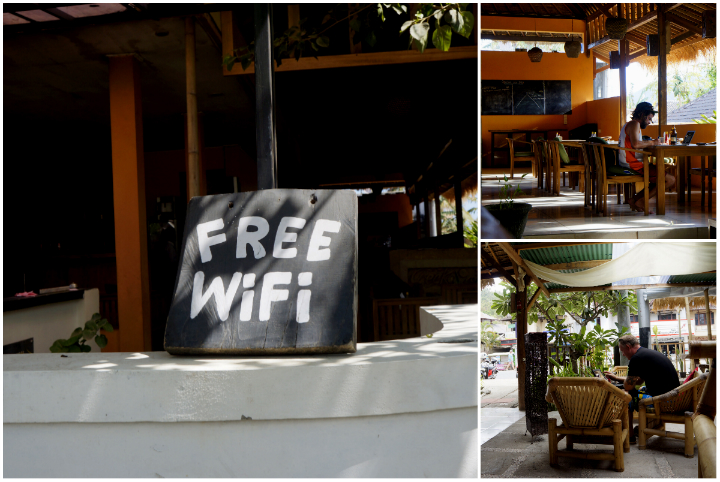 Kuta has a laid back backpacker feel to it. Forget about using the Internet though, it is terrible slow.