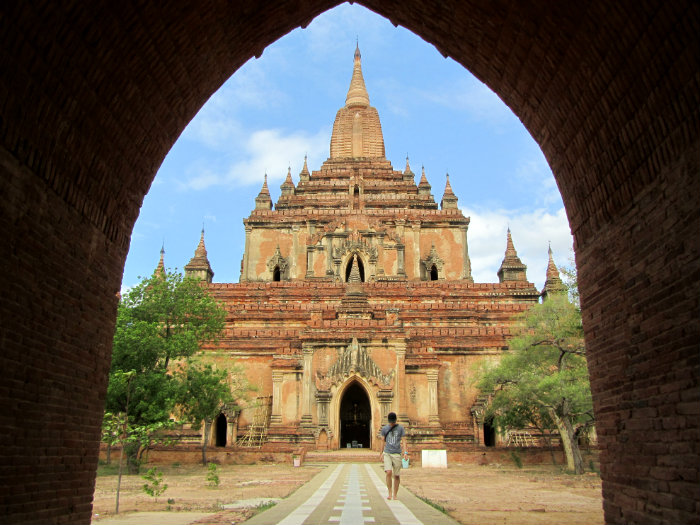 Sulami temple in Bagan Myanmar
