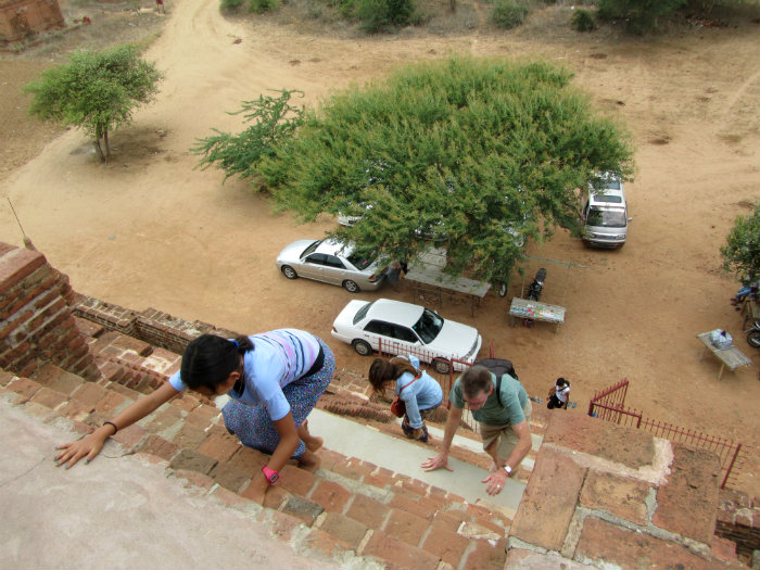 climb temple in Bagan