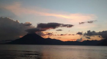 sunset in guatemala