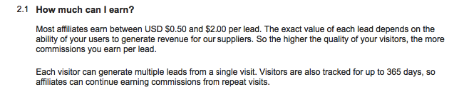 Official average lead value as quoted on the Hotels Combined website.