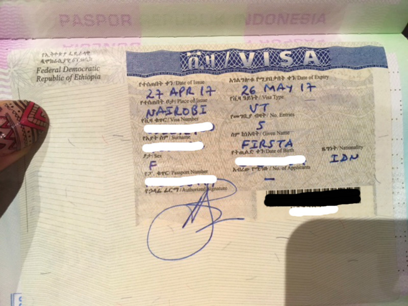 Ethiopia Visa for Indonesian. 1 month visa